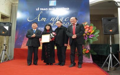 Trao giải thưởng Âm nhạc Hội Nhạc sĩ Việt Nam 2018