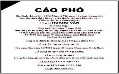 Vĩnh biệt một huyền thoại của nền âm nhạc Việt Nam