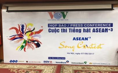 Họp báo về cuộc thi tiếng hát ASEAN+3