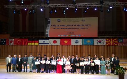 Kết quả Cuộc thi Piano Quốc tế Hà Nội lần thứ IV