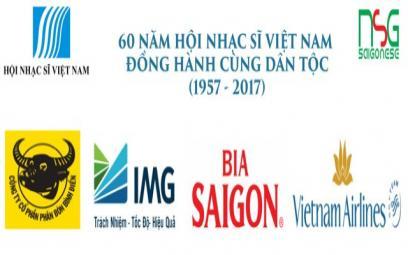 Các nhà tài trợ chương trình 60 năm thành lập Hội Nhạc Sĩ Việt Nam